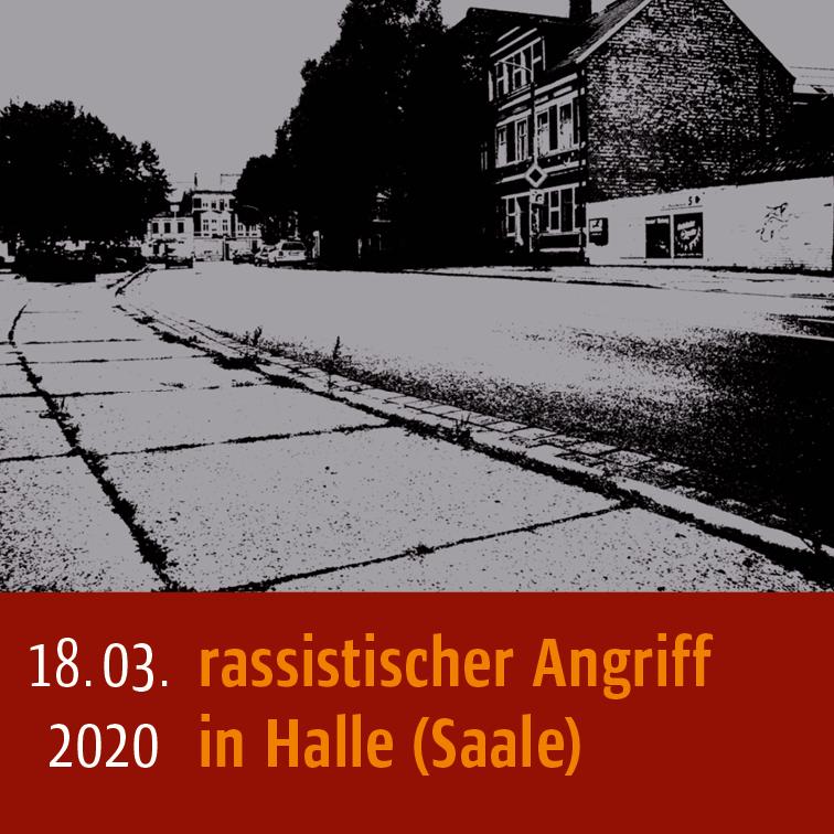 Infografik: 18.03.2020 rassistischer Angriff in Halle (Saale)