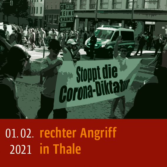 Rechter Angriff am 01.02.2021 in Thale